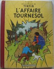 TINTIN L'AFFAIRE TOURNESOL B19 EO 1956 HERGE BON ETAT DOS ROUGE PELLIOR