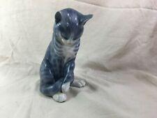 Vintage Royal Copenhagen porcelain blue cat #340