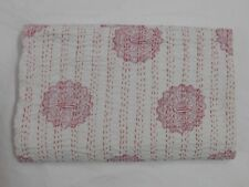Vintage Indian Handmade Quilt Kantha Bedspread Throw Cotton Blanket Gudari Queen