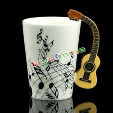 Novelty Musical Instrument Ceramic Acoustic Guitar Milk Coffee Tea Mug Cup Gifts