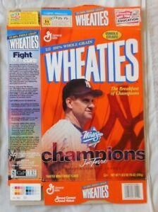Joe Torre New York Yankees 1999 World Series Wheaties Cereal Box