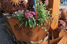 Metall Tasche z.Bepflanzen Rost Edelrost Gartenfiguren Pflanz Korb Blumentöpfe