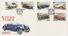Unaddressed Jersey FDC First Day Cover 1992 Vintage Cars II Set 10% off 5