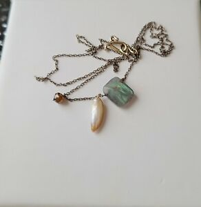 Ten Thousand Things Labradorite Chiclet & Pearl Necklace