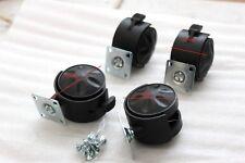 2 Set X4 (8) Castor Wheels mobili 50mm PIASTRA Easy Fit JK Manicure Tavolo