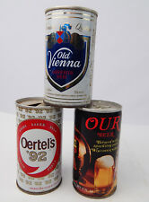 Lot 3 Vintage pull tab beer cans Old Vienna Oertel's '92 & Our Beer VG cond