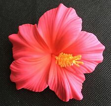 Hawaiian Foam Hibiscus Flower Hair CLIP Sherbet Pink Wedding Bridal Luau Party