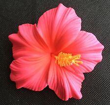 Hawaiian Foam Hibiscus Flower Hair CLIP Sherbet Pink Wedding Bridal Luau Party
