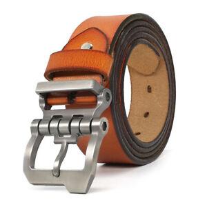 """Luxury Designer Belts for Jeans Genuine Leather Mens Belt Big Tall Size 30""""-63"""""""