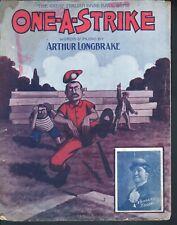 One A Strike 1908 Large Format Baseball Sheet Music