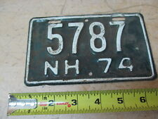 Vintage New Hampshire NH 1974 5787 Motorcycle License Plate