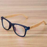 Men Eye Glasses Women Frame Clear Lens Optical Wooden Bamboo Spectacle Eyewear