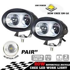 2 Pcs of 4D 20WATTS Fish Eye Car / Bike White  Led  Cree LED Fog Lamp light Spot