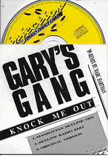 GARY'S GANG - Knock me out CD SINGLE 3TR Dutch Cardsleeve 1989 (INJECTION) Disco