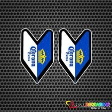 2x JDM WAKABA LEAF SOSHINOYA CORONA EXTRA BEER VINYL CAR STICKERS DECALS