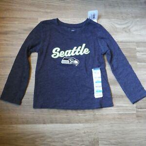 Girls Old Navy Gray Seattle Football shirt size 2T Long sleeve Seahawks new kids