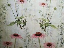 Lavender,dill,bay,  Cotton Fabric Scraps, Crafts, Quilting, Sewing Projects