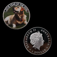 The Year of The Dog Cute Animal Coin Metal Coins Art Ornament for Collection