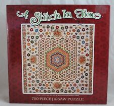 """A Stitch In Time: """"Hexagon Medallion Quilt 1820-1840 750 Piece Jigsaw Puzzle"""