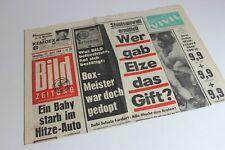 BILDzeitung 22.06.1968 Juni Umschlagsseiten / 4 Seiten  Bubi Scholz Box Meister
