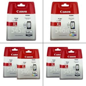 Genuine Canon PG-545 / XL & CL-546 / XL Ink Cartridges For Canon PIXMA Printers