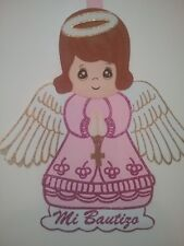 figure of foami angel Girl  for  my baptism/ figura de foami angel  niña bautizo
