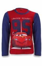 Magliette, maglie e camicie rossi Disney a manica lunga per bambini dai 2 ai 16 anni