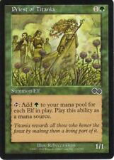 Magic the Gathering MTG 4x Priest of Titania x4 LP x 4 Urza's Saga Playset
