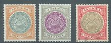 Antigua 1903 crown CC sg.35-6 MH and sg.32 used