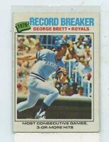 GEORGE BRETT 1977 Topps #231 Record Breaker Kansas City Royals