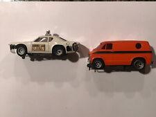 Vintage Afx Taxi And Van Slot Cars 1970s