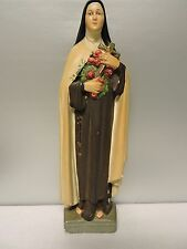 """St. Therese Of The Child Jesus Statue 16"""" Tall Plaster Catholic Catholicism"""