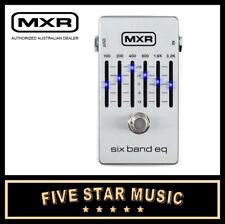 MXR 6-BAND GRAPHIC EQ EFFECTS PEDAL M109 JIM DUNLOP EQUALIZER - NEW SILVER CASE