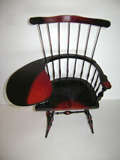 """Windsor Style School Writing Desk Chair Wood fits American Girl 18"""" Doll Wooden"""