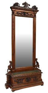 Antique Mirror, Hall Stand, Entry Way, Italian Renaissance Revival Jardiniere!!