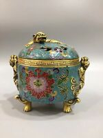 Chinese Antique Cloisonne handmade brave troops incense burner Xuande Year Z1805