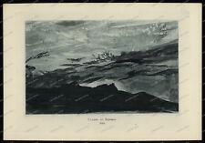Druck-Stahlstich-Engraving-Sunset at Baveno.1845-65