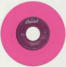 """BEATLES 45 single COLORED Vinyl """"Twist And Shout"""" b/w """"There's A Place"""" JUKEBOX"""