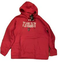 Men's Texas Tech Red Raiders Under Armour Sideline Pullover Hoodie NWT 2XL XXL