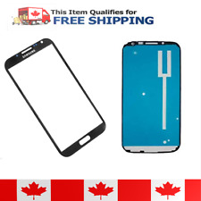 Samsung Galaxy Note 2 Blue Front Glass Lens And Adhesive Sticker