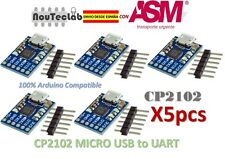 5pcs CJMCU CP2102 MICRO USB to UART TTL Module 6Pin Serial Converter for Arduino
