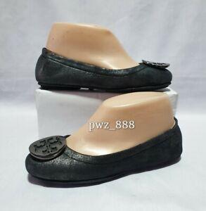 TORY BURCH Gray Fur Lining Ballerina Flats Doll Shoes Size 5.5