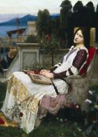 Saint Cecilia. The Listener JOHN WILLIAM WATERHOUSE Pre-Raphaelite Poster