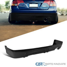 For 06-11 Honda Civic 4Dr Sedan Black PP MU Style Sport Rear Bumper Lip Spoiler