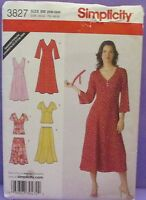 "SIMPLICITY PATTERN 3827 DRESS 1 OR 2 PIECE IN 2 LENGTH SIZE 20W-28W BUST 42"" 50"""