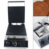 Commercial Waffle Maker Machine 1500W Nonstick Baker Tool Timer & Temp Control