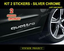 2 Adesivi AUDI QUATTRO CHROME fiancata Q2 Q3 Q5 TT RS S line decal stickers