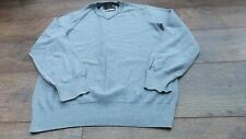 mens jumper grey by st george by duffer size small 100% cotton