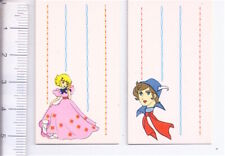 LULU' l'angelo tra i fiori 花の子ルンルン 80s Japan lot 2 mini tags - 2 etichette mini