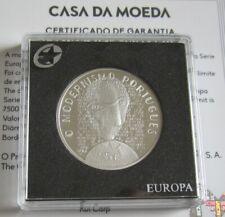 Portugal 5 Euro 2016 Europastern Modernismus Silber PP
